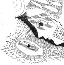 [ilustração: Almada Negreiros (1893-1970). Desenho in Presença, nº 53-54, 1938. ]