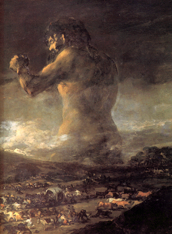 Goya (1746-1828). «O Colosso». Museu do Prado, Madrid.