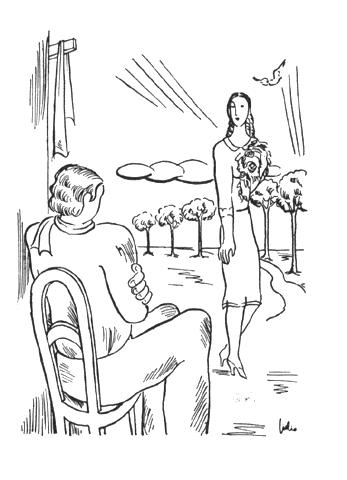 Júlio (1902-1983). Ilustração para o livro de José Régio «As Encruzilhadas de Deus». in Presença, nº 46, 1935.